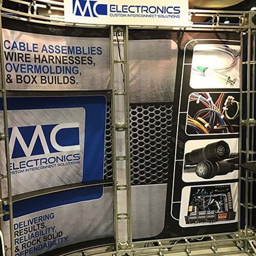 MC Electronics Fabric Backdrop | Truss Display Systems | Giant Printing Austin, TX