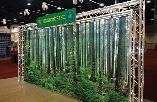 Wallingford's Inc. 20ft Fabric Backdrop | Truss Display Systems | Giant Printing Austin, TX