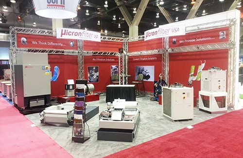 Micron Filter USA Fabric Backdrop | Truss Display Systems | Giant Printing Austin, TX